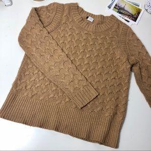 J.Crew Tan Pullover Small Wool/Angora Rabbit Hair